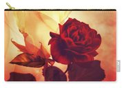 White And Red Roses Carry-all Pouch