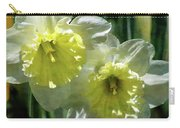 White And Yellow Daffodil 8887 Idp_2 Carry-all Pouch