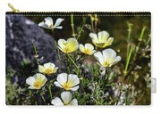 White And Yellow Poppies 1 Carry-all Pouch