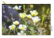 White And Yellow Poppies Abstract 2   Carry-all Pouch