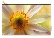 White Anemone Flower Carry-all Pouch