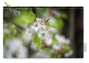 White Apple Flowers Carry-all Pouch