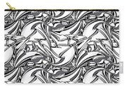 White Arrows Seamless Pattern Carry-all Pouch