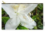White Azalea Flower 9 Azaleas Raindrops Spring Art Prints Baslee Troutman Carry-all Pouch