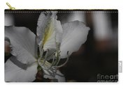 White Bauhinia Flower In The Rain Carry-all Pouch