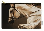 White Beautiful Horse  Carry-all Pouch