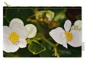 White Begonias At Pilgrim Place In Claremont-california Carry-all Pouch