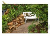White Bench In The Garden Carry-all Pouch
