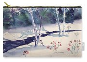 White Birches Carry-all Pouch