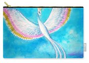 White Bird From Kingdom Of Immortals Carry-all Pouch