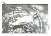 White Bird On Sparkly Water Carry-all Pouch