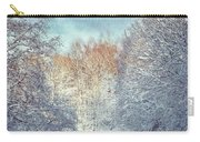 White Blanket - Winter Landscape Carry-all Pouch