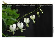 White Bleeding Hearts Carry-all Pouch