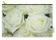 White Blooming Roses Carry-all Pouch