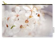 White Blossoming Cherry Tree Macro Carry-all Pouch