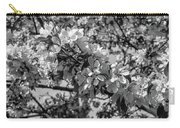 White Blossoms In Black And White Carry-all Pouch