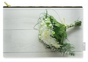 White Wedding Bouquet  Carry-all Pouch