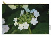 White Bridal Wreath Flowers Carry-all Pouch