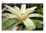 White Bromeliad Carry-all Pouch