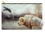 White Buffalo And Raven Carry-all Pouch