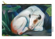 White Bull Resting In The Woods By Franz Marc Carry-all Pouch