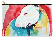 White Bull Terrier Carry-all Pouch
