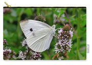 White Butterfly At The Good Earth Market Carry-all Pouch