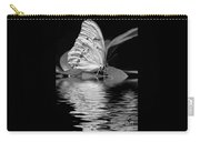 White Butterfly Bw Carry-all Pouch
