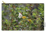 White Butterfly On Golden Daisy Carry-all Pouch