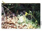 White Butterfly On Goldenseal Carry-all Pouch