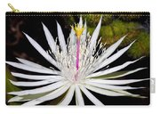White Cactus Flower Carry-all Pouch