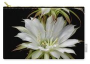White Cactus Flowers Carry-all Pouch