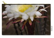 White Cactus Fower Carry-all Pouch