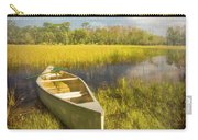 White Canoe Textured Painting Carry-all Pouch