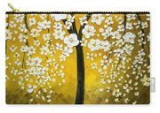 White Cherry Blossom Tree Carry-all Pouch