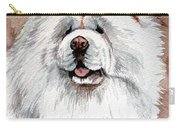 White Chow Chow Carry-all Pouch