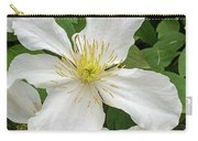 White Clematis 0808 Carry-all Pouch
