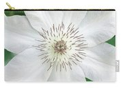 White Clematis Flower Garden 50121 Carry-all Pouch