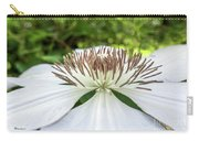 White Clematis Flower Garden 50146 Carry-all Pouch