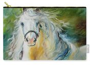 White Cloud The Andalusian Stallion Carry-all Pouch