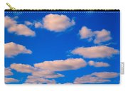 White Clouds In Blue Sky Carry-all Pouch