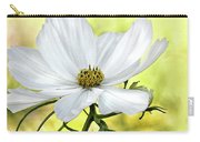 White Cosmos Floral Carry-all Pouch