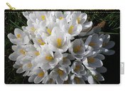 White Crocuses Carry-all Pouch