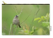 White Crown Sparrow Carry-all Pouch