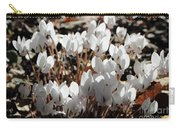 White Cyclamen Carry-all Pouch