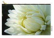 White Dahlia Flower Art Print Canvas Floral Dahlias Baslee Troutman Carry-all Pouch