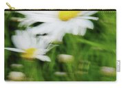 White Daisy Digital Oil Painting Carry-all Pouch