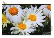 White Daisy Flowers Carry-all Pouch