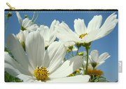 White Daisy Flowers Fine Art Photography Daisies Baslee Troutman Carry-all Pouch