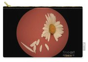Encapsulated Daisy With Dropping Petals Carry-all Pouch